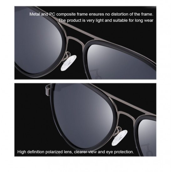 HD CRAFTER 16619 POLARIZED DESIGN GLASSES MIRROR LENS