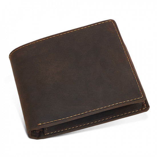 High capacity Brown Top Grain Leather Men's Leather