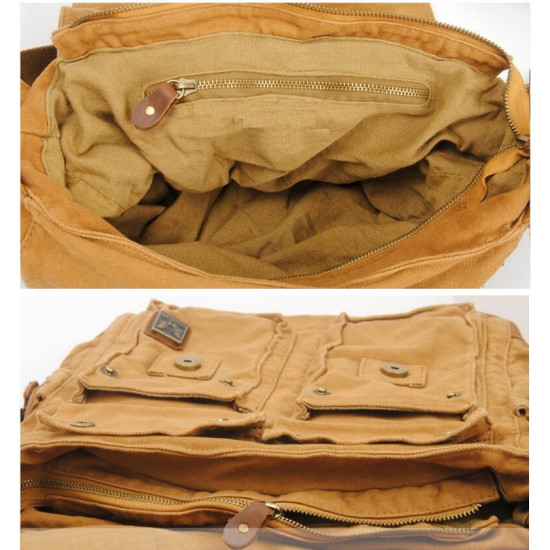 Vintage Canvas Bag (Yellow Brown)