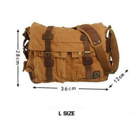 57e279e7a21c Vintage Canvas Bag (Yellow Brown)