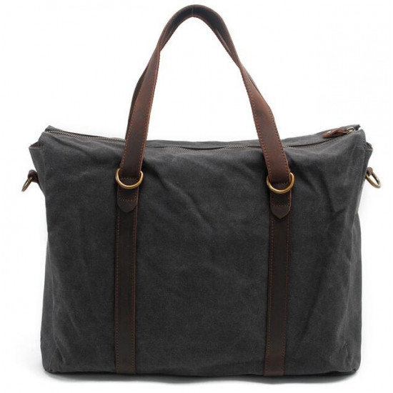 Waxed Canvas Laptop Bags (Grey)