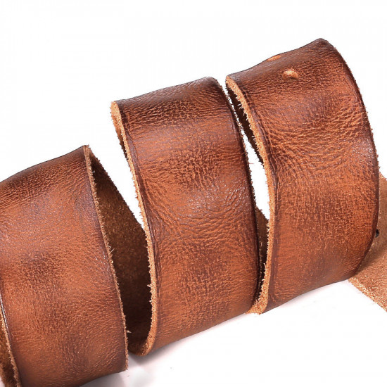 Brown premium leather belt
