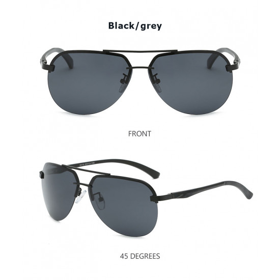 Classic Aviator Design polarized unisex sunglasses with UV protection