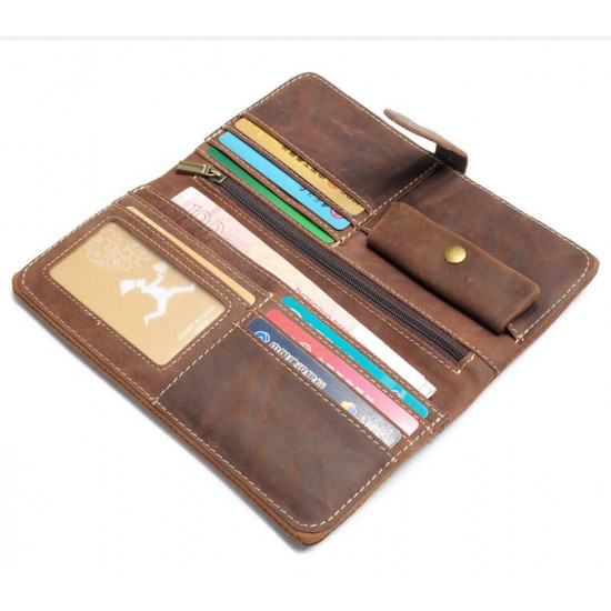 Vintage Look Genuine Leather Breast Pocket Wallet