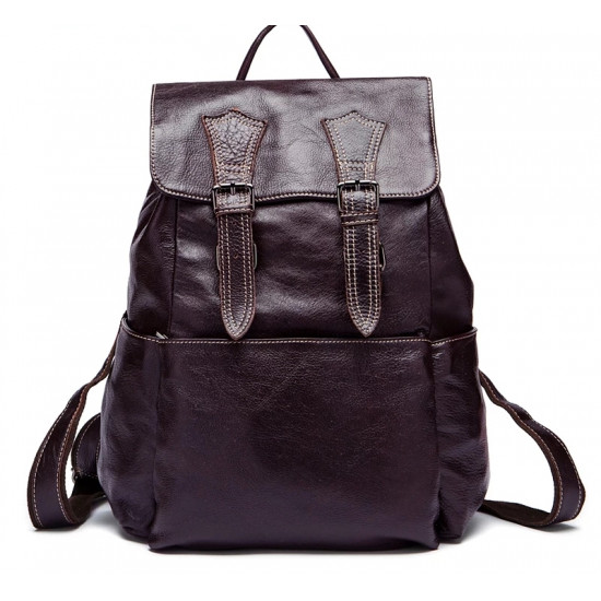 Backpack Cowhide Leather men laptop bag