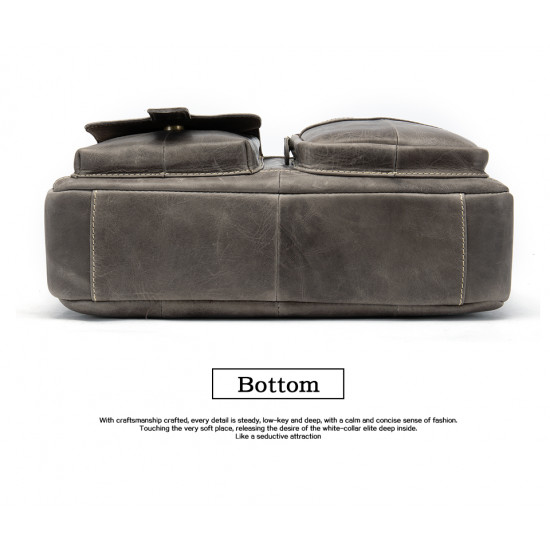 Classy 100% leather briefcase laptop bag