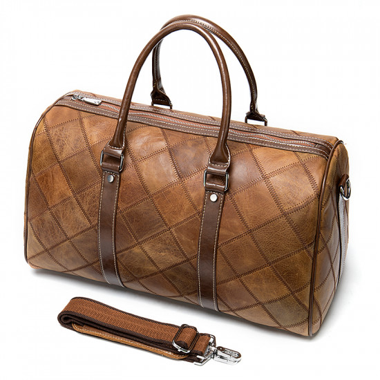 Full leather duffel gym and travel bag