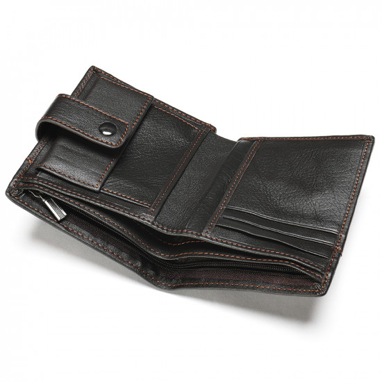 Small size luxury leather wallet with card pockets