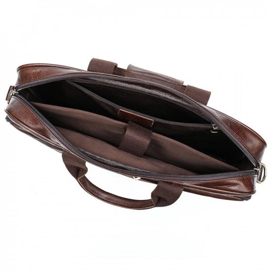 Westal brown vintage leather bags| cowleather men leather laptop bags