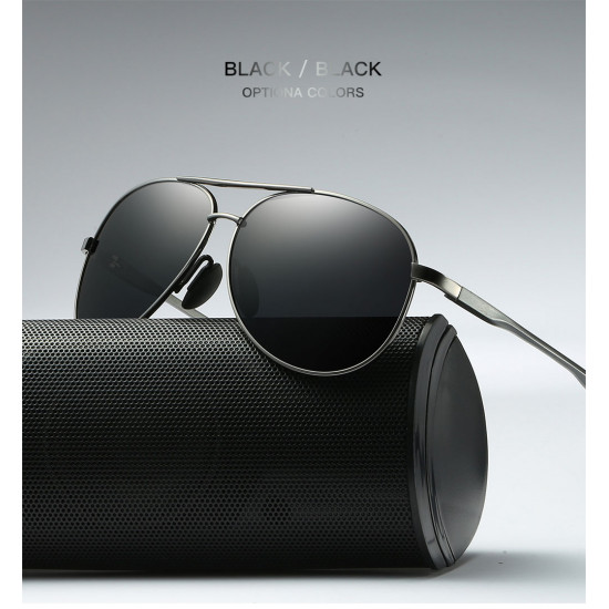 Classic metal frame Aviator Design polarized unisex sunglasses| Blok Shop