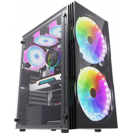 ATX / MATX Glass Chassis Computer Casings With 2 Fans