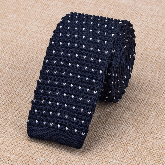 Navy Blue Knitted Ties