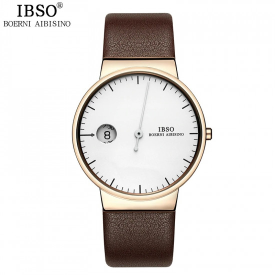 Men IBSO watch with leather Strap S8201L