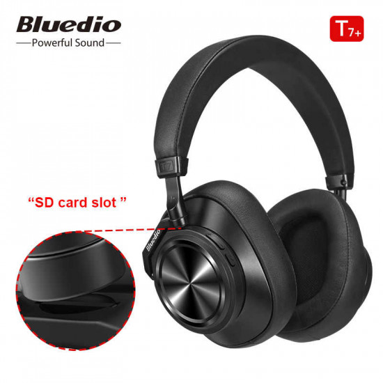 Bluedio T7+ Active Noise Cancelling Over-ear Wireless Bluetooth Headphones with Mic