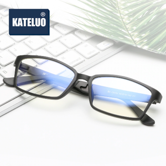 KATELUO Tungsten Eyeglasses Computer Anti-Blue Laser Optical Glasses Frame 13032