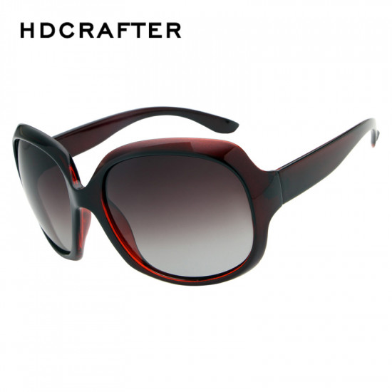 HDCrafter Women Luxury Elegant Oversized Oval Polarized Sunglasses
