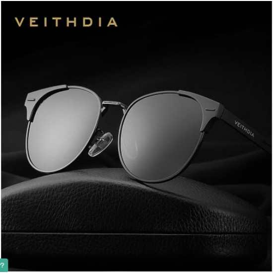Veithdia Brand Cat eye design unisex polarized sunglasses|Composite frame