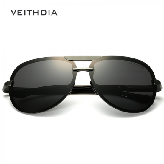 Aluminum Polarized Men Sunglasses|Veithdia Brand| Aviator Style
