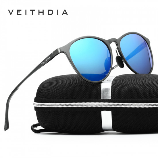 Vintage Round Lens polarized Veithdia sunglasses| Travel companion