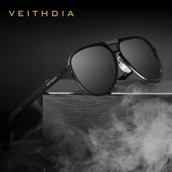 Al-Mg Veithdia Polarized Sunglasses|Men Aviator Sunglasses